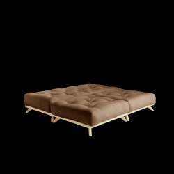 Pouf Senza | Natural Frame + Mocca Mattress