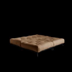 Pouf Senza | Black Frame + Mocca Mattress