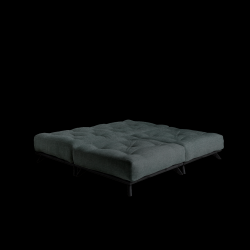 Pouf Senza | Black Frame + Slate Grey Mattress