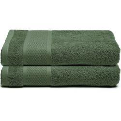 Serviette de bain James | Vert Foncé | Lot de 2