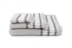 3er Set Handtücher Kendall | Silber