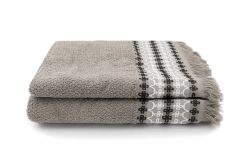 Towel Kendall 50 x 100 cm Set of 2 | Taupe