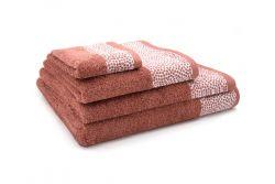 3er-Set Handtücher Kylie | Terrakotta