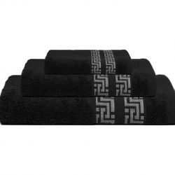 Bath Towel Tom | Black | Set of 3