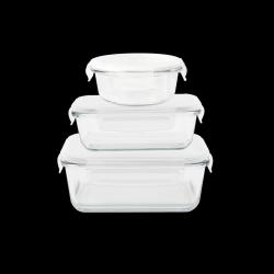 Lebensmittelvorratsbehälter rechteckig | 3er-Satz