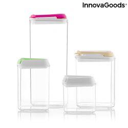 Set of 4 Hermetic Containers Pilocks | Transparent