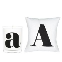 Pillow Cover + Candle A | White