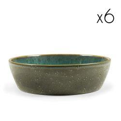 Schale Ø 18 cm 6er-Set | Grün