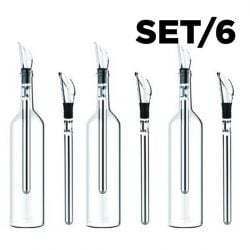 Weinkühlstäbchen 6er-Set + Ausgießer