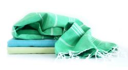 Hammam Towel Turkuaz Set of 3 | Peppermint, Turquoise & Sorbet