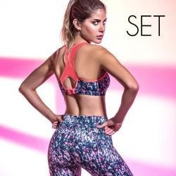 Tweedelige Set (Top + Legging) | Koraal
