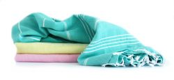 Hammam Towel Turkuaz Set of 3 | Peppermint, Sorbet & Pink