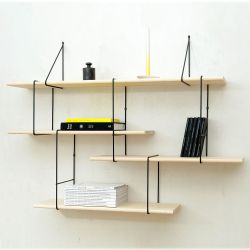Shelving System LINK Set 1 | Ash Black