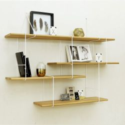 Shelving System LINK Set 1 | Oak White