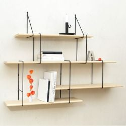 Shelving System LINK Set 2 | Ash Black
