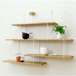 Shelving System LINK Set 2 | Oak White