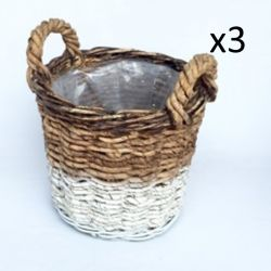 Basket Abaca Set of 3 | White