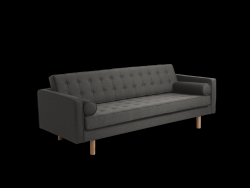 3-Zits Sofabed Topic Wood | Staal