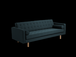 3-Sitzer-Sofa Topic Wood | Deep Sea