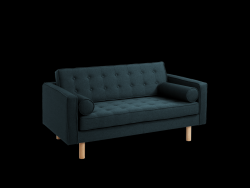 2 Seater Sofa Topic Wood | Deep Sea