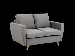 2-Sitzer Sofa Lover | Stahlgrau