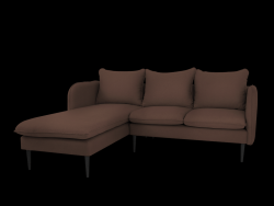 Corner Sofa Left Posh | Brown