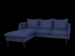 Ecksofa Links Posh | Blau