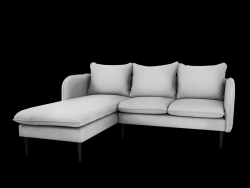 Corner Sofa Left Posh | Platinum Grey