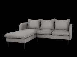 Corner Sofa Left Posh | Steal Grey