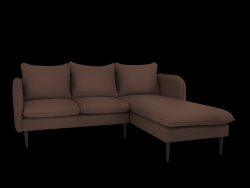 Corner Sofa Right Posh | Brown