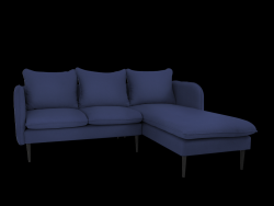 Corner Sofa Right Posh | Blue