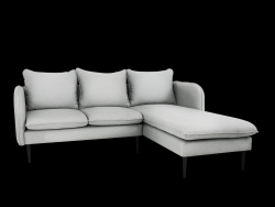 Corner Sofa Right Posh | Platinum Grey