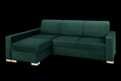 Corner Sofabed Left Stable | Green