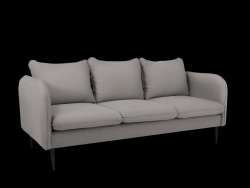 Sofa 3 Seater Posh | Steal Grey