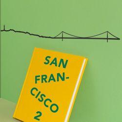 Wanddekoration San Francisco Skyline Klein | Schwarz