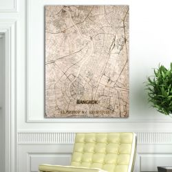 Wooden Wall Decoration | City Map | Bangkok