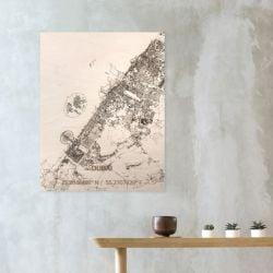 Holzwanddekoration | Stadtplan | Dubai