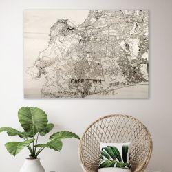 Holzwanddekoration | Stadtplan | Cape Town