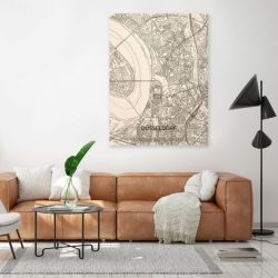 Holzwanddekoration | Stadtplan | Düsseldorf