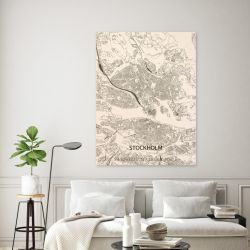 Holzwanddekoration | Stadtplan | Stockholm