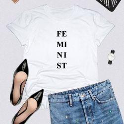 T-shirt FE MI NI ST | White
