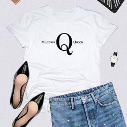 T-shirt Multitask Queen | White