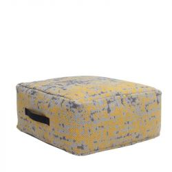 Vintage Trio Pouf | Yellow Cotton