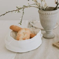 Leinenbrotkorb | Weiß
