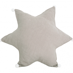 Star Cushion Linen | Natural Beige
