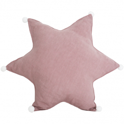 Star Cushion Linen | Dusty Pink