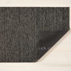 Fußmatte Shag Heatered 46 x 71 cm | Schwarz/Tan