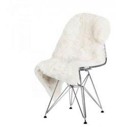 Patchwork aus rasiertem Schaffell Teppich Patchwork | Weiß