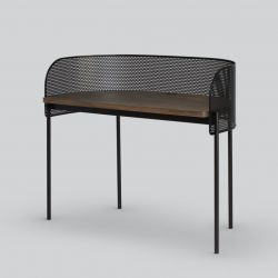 Desk Shelter | Black / Oak
