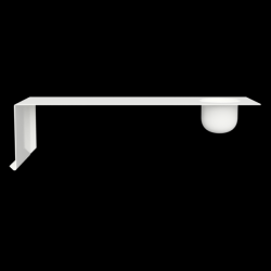 SHELVE01 W. BOWL | White Left